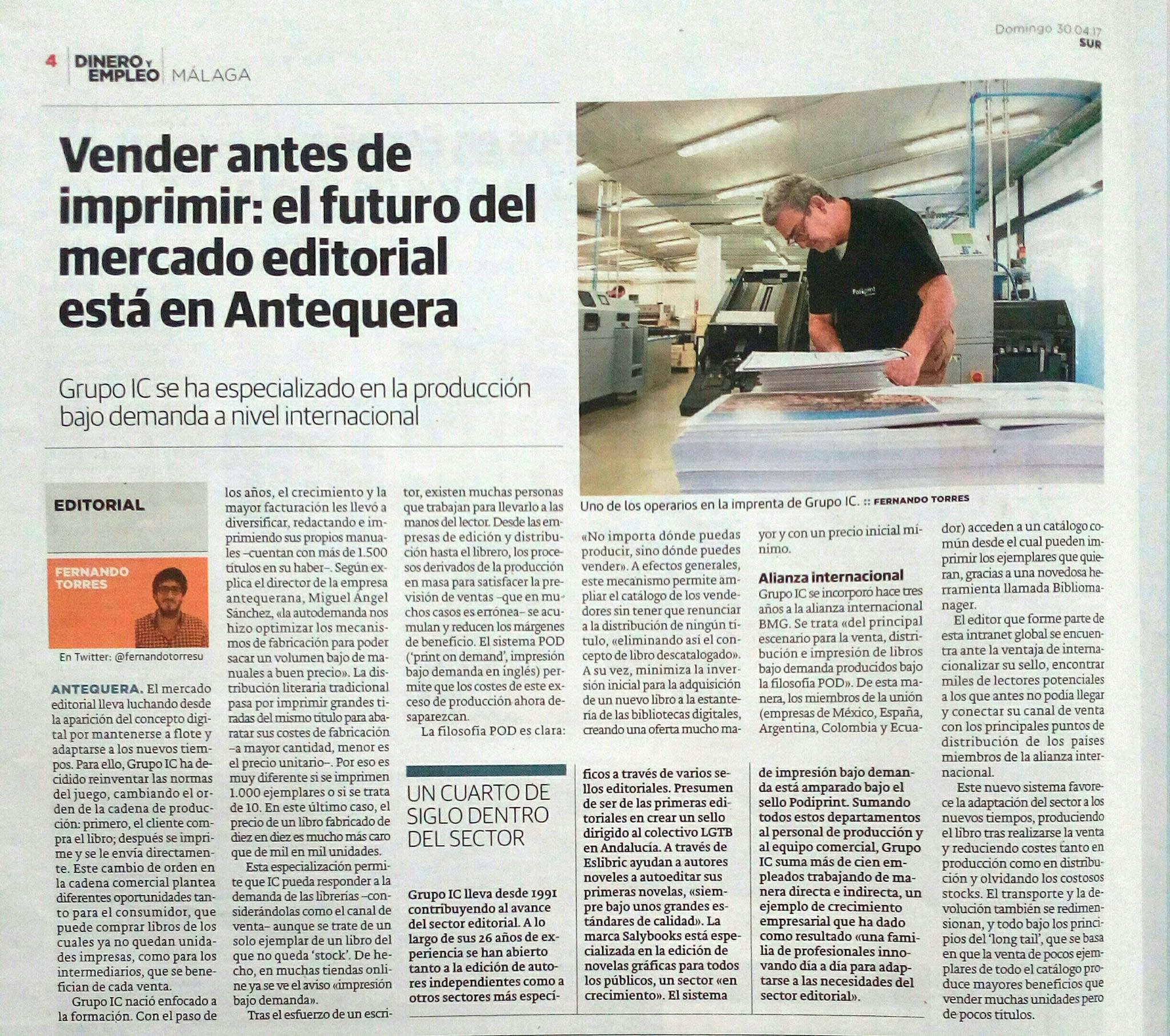 Grupo IC en el Diario Sur