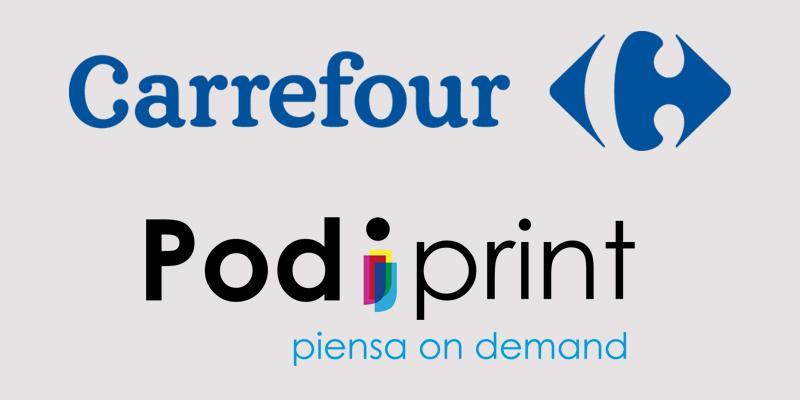 Impresión bajo demanda en Carrefour
