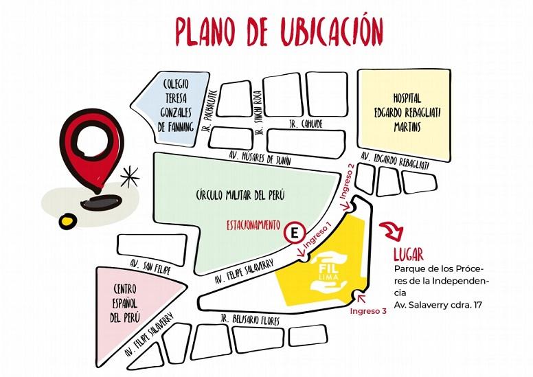 plano feria libro Lima