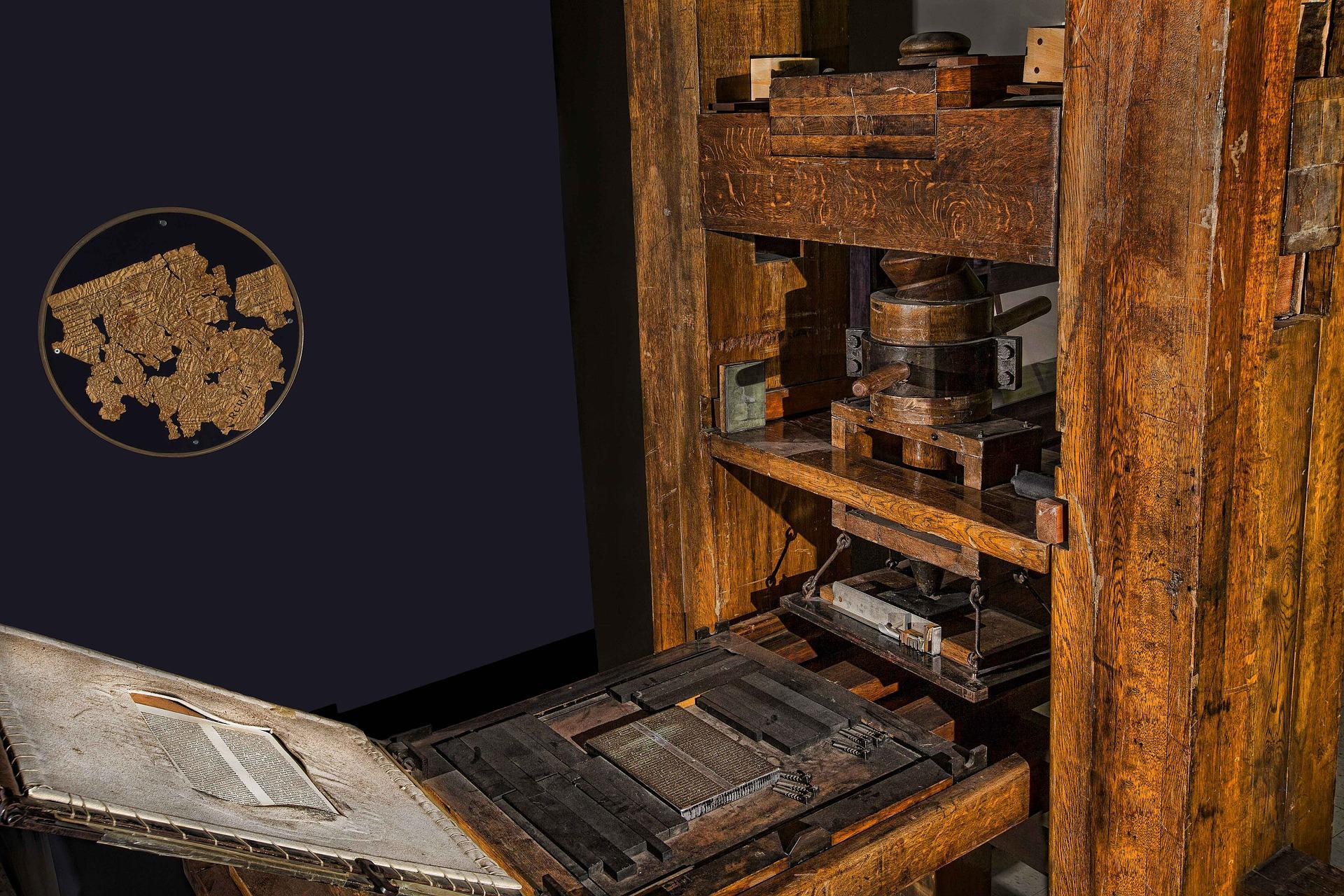 Las mejores curiosidades de la imprenta de Gutenberg.