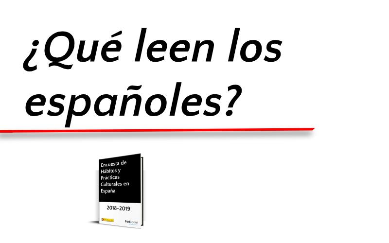 Según el Ministerio de Cultura, la lectura es un pasatiempo cultural muy común en España